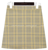 PETIN CHECK BANDING PANTS SKIRT