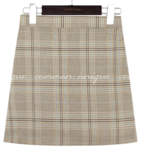 PETIN CHECK BANDING PANTS SKIRT 裙子