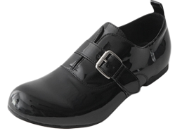 round buckle loafer