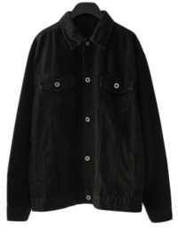 casual solid cotton jacket
