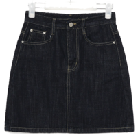 neat denim mini skirts (s, m, l)