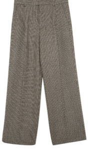 warm check wide slacks - men