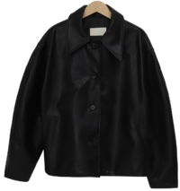 Urban leather collar jacket_H (size : free)
