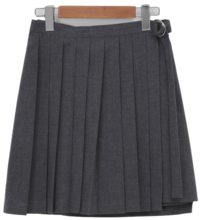 Pleat culottes mini skirt_Y