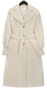 REVLIN BALLOON TRENCH COAT coat