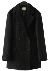 classy wool double button coat