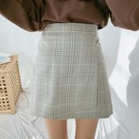 Main Check Wrap Skirt