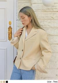 Notch Collar Short Jacket