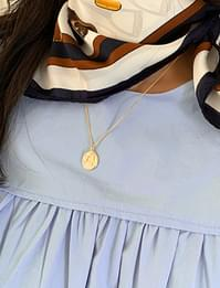 Clam pendant layered necklace_C