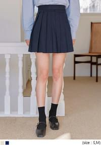 HUBERT COTTON PLEATS MINI SKIRT
