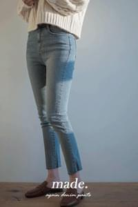 Again skinny date cropped denim pants-XL size