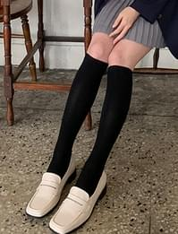 Slim golgi knee socks_C (size : one)