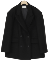 Double wool half coat_A (울 40%) (size : free)