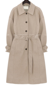 LONTE WOOL BELT SINGLE COAT