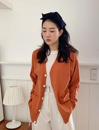 Say pocket button cardigan_C