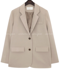 Notched Lapels Single-Breasted Jacket