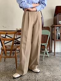Long wide pintuck pants_C
