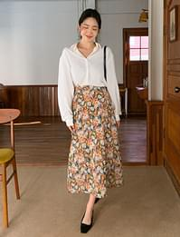 Spring flower long skirt_C