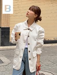 Dozen collar cotton jacket