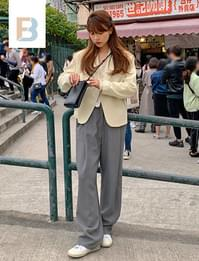 Bay loose banding slacks (size : S,M)