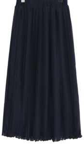 SHIFFON PLEATS LONG SKIRT 裙子