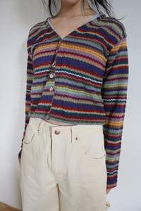 rainbow vintage cardigan (purple)