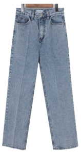Line washing denim pants_P