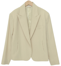 Cream open simple jacket_J (size : free)