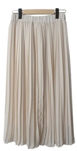 Miring pleated long skirt