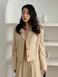 Sand collar short jacket_Y