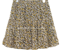 FLOWER CANCAN BANDING MINI SKIRT