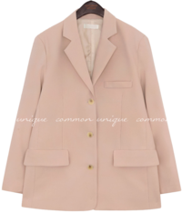 Single-Breasted Notch Collar Jacket