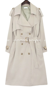 SORNY CUPRA DOUBLE TRENCH COAT 大衣外套