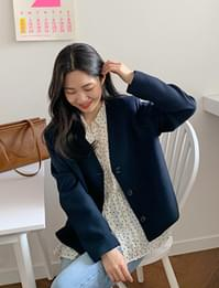 Weather simple button jacket_U (size : free)