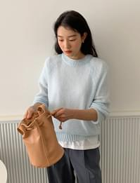 Spring wool round knit_A (size : free)