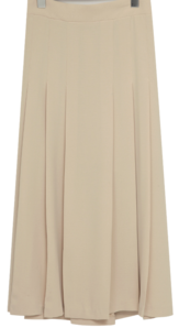 Mellow pleated long skirt