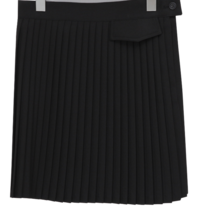 Slim pleats mini skirt_C