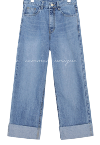 LOIPE ROLL UP WIDE DENIM PANTS jeans