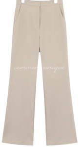 SELVIA SEMI BOOTS LONG SLACKS pants