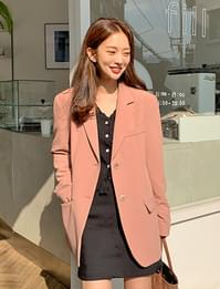 Peach spring single jacket_P (size : free)