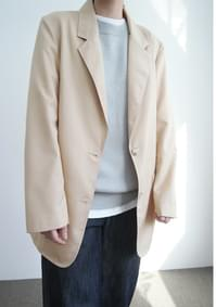clean semi over-fit jacket