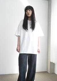 thick texture boxy tee