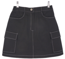 Star stitch pocket skirt