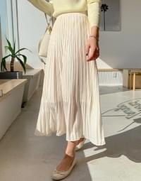 Week chiffon pleated long skirt