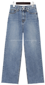 TORIER CUTTING WIDE DENIM PANTS