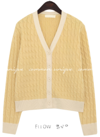 WOOL TWIST COLORING KNIT CARDIGAN
