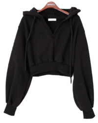 Cropped Sugar Hooded sweat shirt