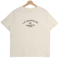 'LE MARCHE' lettering Short-sleeved 短袖上衣