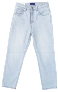 Dated ice-blue denim pants