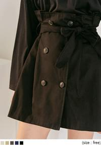 RANNE TRENCH BANDING MINI SKIRT